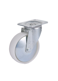 5'' White PP Medium Duty Galvanized Swivel Caster Wheel
