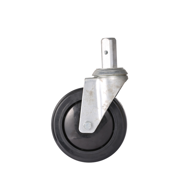"5"" TPR Swivel Caster Wheel with single bearing"