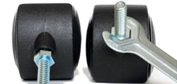 What should I do if the office chair caster wheel abnormal sound?