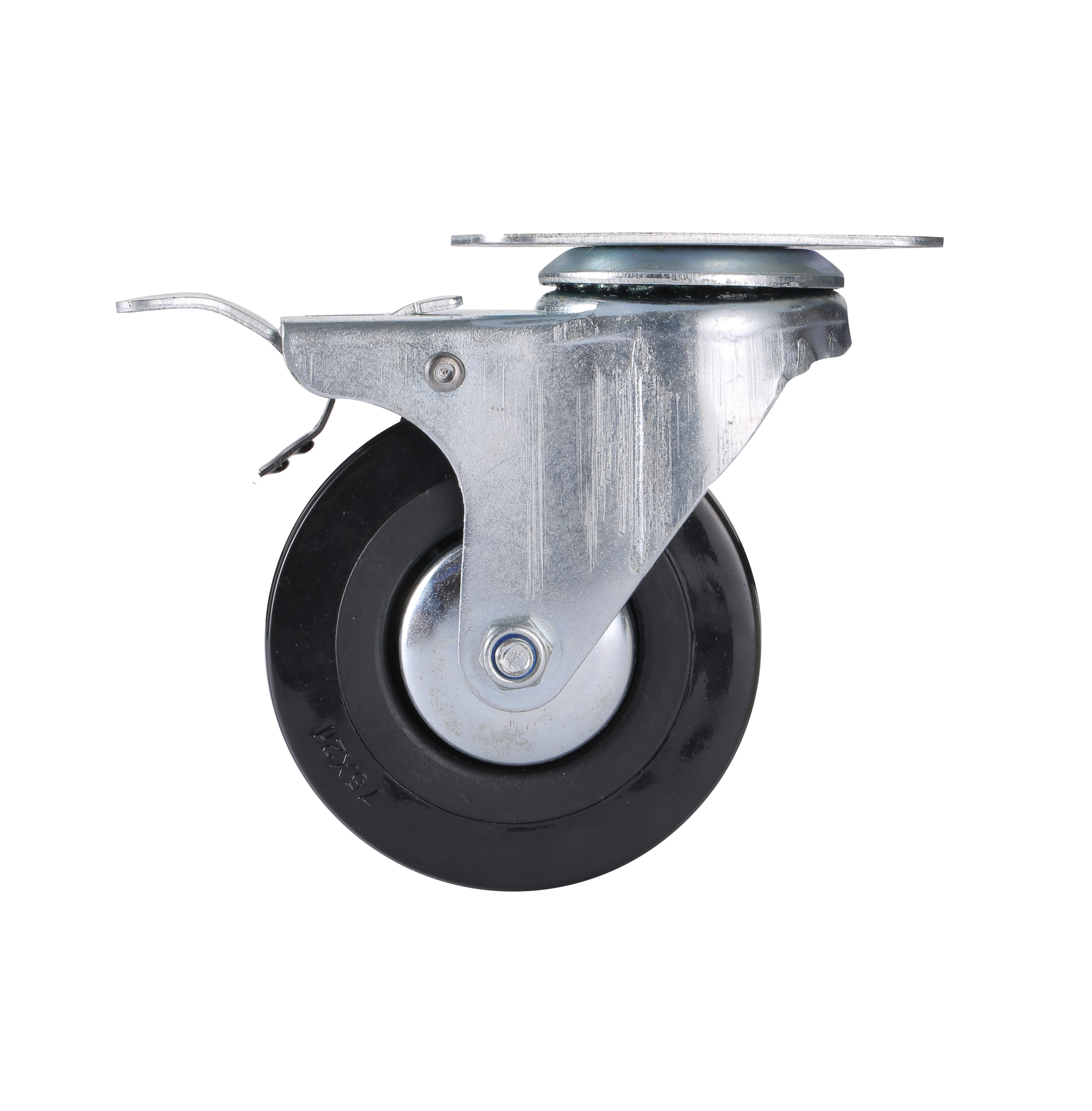 2.5'' Light Duty PVC Plate Swivel Caster Wheels with Brakes