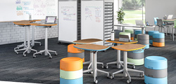 Why use caster wheel furniture in education space?