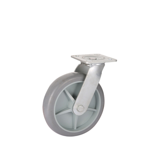 Heavy Duty Swivel Plate TPR Caster Wheel